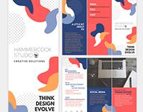 Hammercock Studio | Tri-fold Brochure Design
