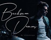 Free Beckman Demons Signature Font