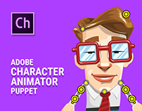 Mr. Geekson - Free Character Animator Puppet