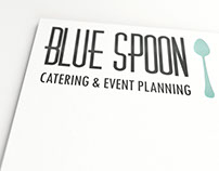 Blue Spoon Logo Design