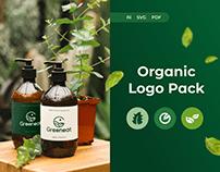 Organic Logo Pack – Minimal Green Organic Logo Template