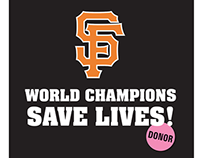 CTDN – SF Giants T-Shirt for Donate Life Day