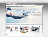 Lycoming Engines website design.