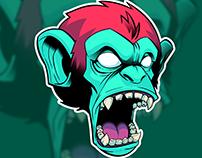 Monkey Head Stickers