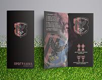 Tri fold brochure for football match