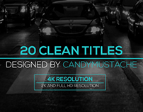Clean Titles Pack, After Effects Templates