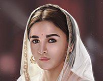 Alia Bhatt | Portrait Digital Painting