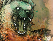Hyena Book Cover Illustration
