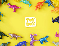 """TOYBOX"" logo for kids shop"