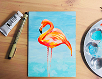 Gouache Animal Painting Set