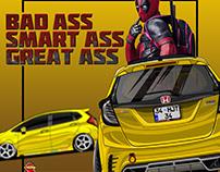 Honda Jazz Gk5 Deadpool Design