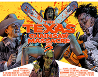 Texas Chainsaw Massacre 2 Screen Print