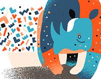 Illustration-Endangered animal