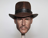 1/6 Indiana Jones Head Painting
