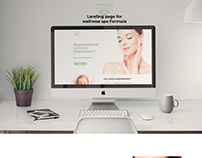 Wellness SPA Formula Landing Page