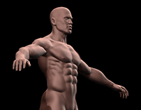 Male Warrior model (Work in progress).