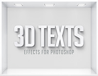 3D Texts Effects