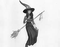 Inktober 2: Urban Witch