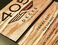 405 Decks Branding