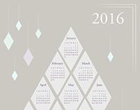 2016 Calendar - Diamonds