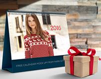 Free calendar mock-up