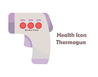 bix box studio - Health Icon Purple Thermogun