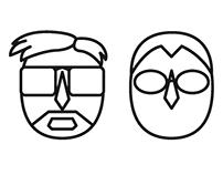 Human Head Icon Set