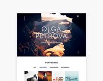Olga Petrova portfolio website