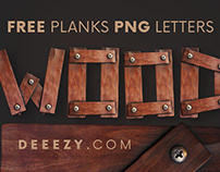 Free Wooden Planks 3D Lettering