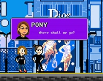 "Dior makeup ""The Glow Challe"" / Pixel Art"