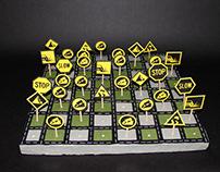 Roadsign Chess set