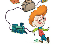 Illustrations for adventure book