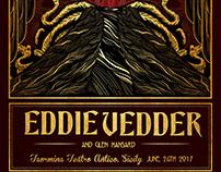 Triskelion. Eddie Vedder Show Poster
