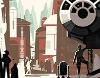 Star Wars Disneyland Park Posters