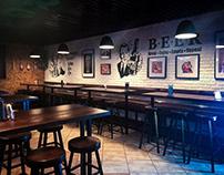 """""""Hop kings bar"""" wall painting"""