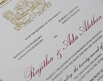 Wedding Invitation: Ada and Rajitha