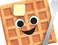 Happy Waffle Logo
