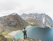 Hike up to Ryten, Lofoten Islands, Norway