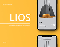 Mobile app - Lios. Lighting store