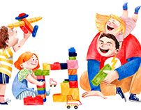Иллюстрация для благотворительного фонда AdVita