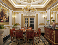 Classic dining room design  at con-creative office