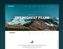 'Peaks' digital agency template
