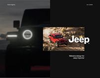 Jeep website design