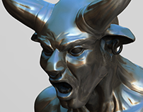 Minotaur Bust