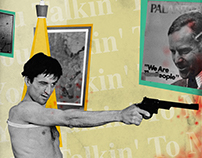 """""""Taxi Driver"""" Collage Poster"""
