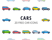 Cars Vector Free Icon Set