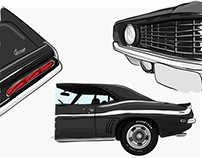 Car illustration Yenko Camaro