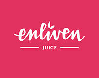 Enliven juice hand lettered logo