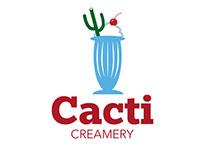 ART 130 Logo Design - Cacti Creamery