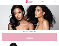 Web Design and Copywriting for Pretty Elite Hair
